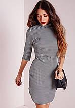 Платье с закругленным низом в полоску Missguided, фото 2