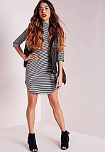 Платье с закругленным низом в полоску Missguided, фото 3
