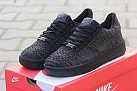Мужские кроссовки Nike Airforce, плотная дышащая сетка, черные / летние кроссовки мужские Найк Аирфорс
