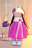 Кукла девочка, мягкая игрушка - стиль тильда 30 см.
