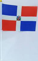 Флажок Доминиканской Республики 13x20см на пластиковом флагштоке