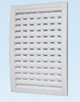Решётка вентиляционная с регулируемым живым сечением, разъёмная декоративная АБС 200х200 , белая