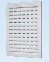 Решітка вентиляційна з регульованим живим перерізом, роз'ємна декоративна АБС 150х150 , біла