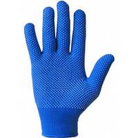 Перчатки пвх синие нейлоновые тонкие