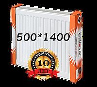 Teplover 500 на 1400 тип 22 стальной радиатор боковое подключение, фото 1