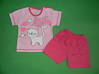 Комплект футболка с шортами , кулир, р.24,26,28,30