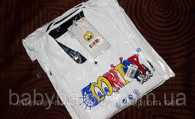 Рубашка юниор белая эмблема 100% хлопок (от 6 до 12 лет), фото 2
