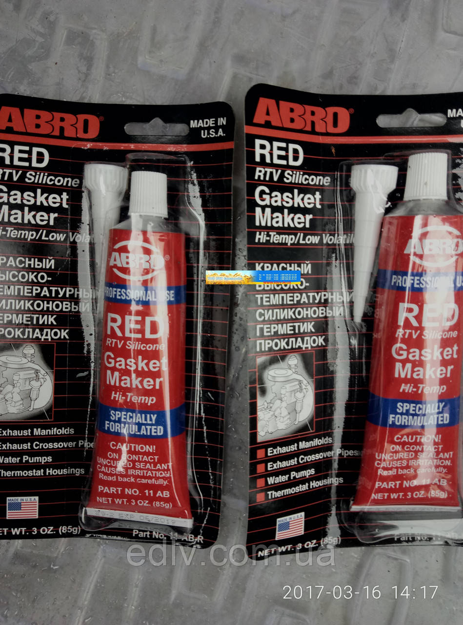 Герметик прокладок 85гр червоний ABRO 11-AB