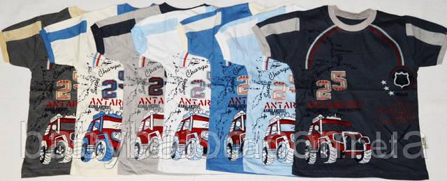 """Хлопковая футболка для мальчика с вышивкой """"Джип""""(рост от 104 до 128 см), фото 2"""