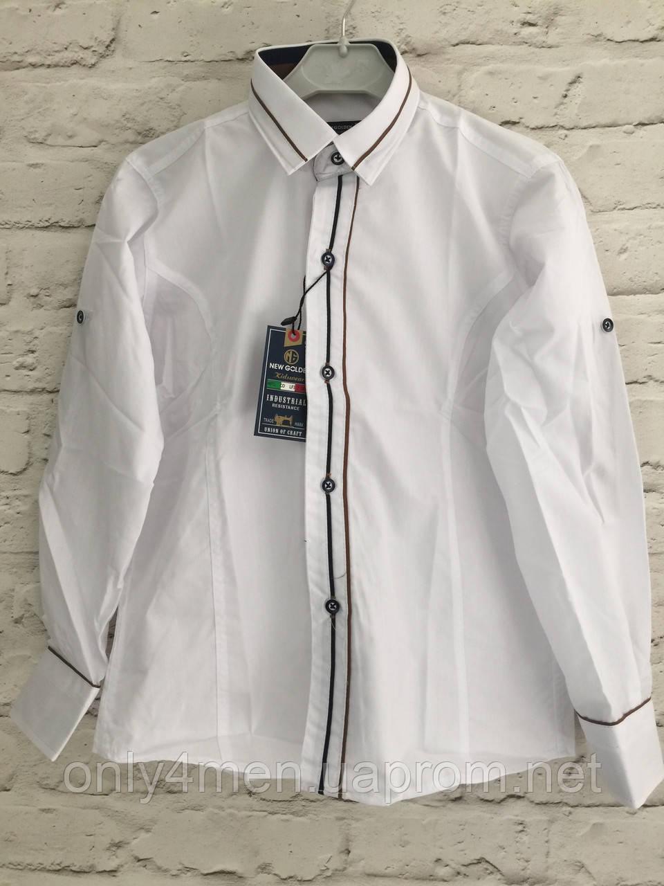 Сорочка для хлопчиків,колір білий,на зростання 128-152