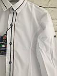 Сорочка для хлопчиків,колір білий,на зростання 128-152, фото 2
