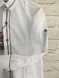Сорочка для хлопчиків,колір білий,на зростання 128-152, фото 3