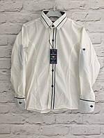 Рубашка для мальчиков,цвет молочный,на рост 128-152