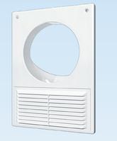 Решётка вентиляционная вытяжная ,площадка торцевая пластиковая АБС с решеткой 180х250 фланец D125 , белая