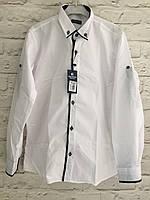 Рубашка для мальчиков,цвет белый,на рост 128-152