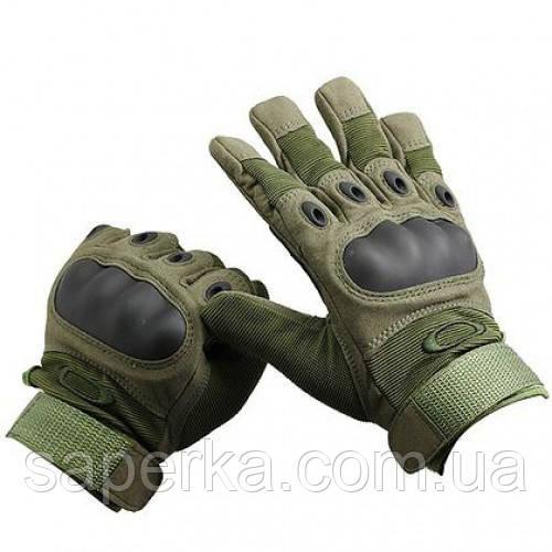 Тактические военные перчатки Oakley. Цвет олива