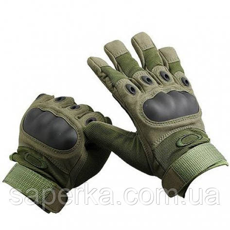 Тактические военные перчатки Oakley. Цвет олива, фото 2