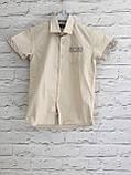 Рубашка с коротким рукавом,клетка для мальчиков 5-16 лет, фото 4