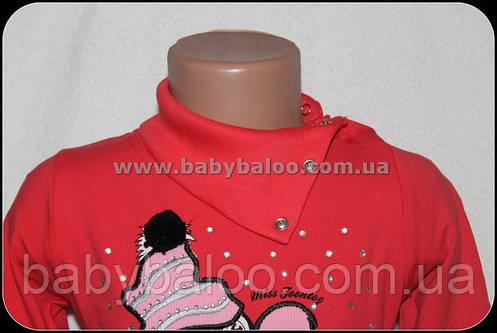 """Гольф-стойка детский девочка кнопка""""Пингвин с конфетой""""(от 1 до 4 лет)начёс, фото 2"""