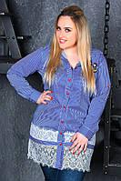 Платье рубашка, 3000 МЗ батал, фото 1