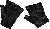 [Спец.ЦЕНА] Перчатки без пальцев кожаные чёрные (L) MFH 15514