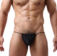 Сексуальные мужские стринги, чёрные