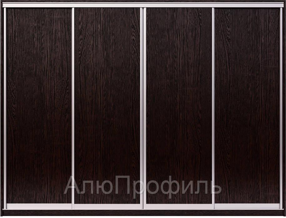 Фасады для шкафа купе. Конструктор  на 4 двери. Ручка А107. Габариты 2800(Ш) х 2200(В).