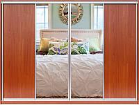 Раздвижная система для фасадов шкафа купе на 4 двери.  Ручка А114. Габариты 2800(Ш) х 2200(В). , фото 1