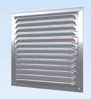Решётка вентиляционная оцинкованная с сеткой Сталь 300х300, фото 2