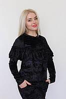 Женский весенний костюм кофта с рюшками и лосины