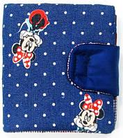 Красочный синий кошелек от TwinsStore с принтом Мини Маус, К15