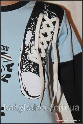 """Батник детский """"Кеды шнурок"""" (рост 92 до 110 см) , фото 2"""