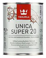 """Unica super 20. """"Уника супер 20"""" полуматовый уретано-алкидный лак 0,9 л"""