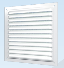 Решітка вентиляційна з покриттям полімерною емаллю з сіткою Сталь 150х150