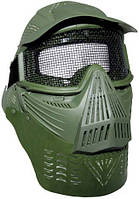"""Маска защитная для страйкбола MFH """"Airsoft De Lux"""" тёмно-зелёная 10615B"""