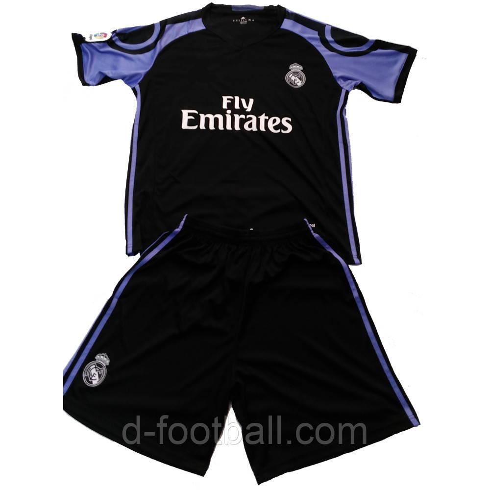 Детская футбольная форма Реал Мадрид Ronaldo №7 черная SE7801 купить ... 2a6a2832233