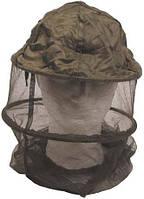 Москитная сетка на голову с металлическим кольцом тёмно-зелёная MFH 10467