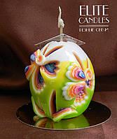 Свеча для Пасхи, ручная работа, стильный дизайн