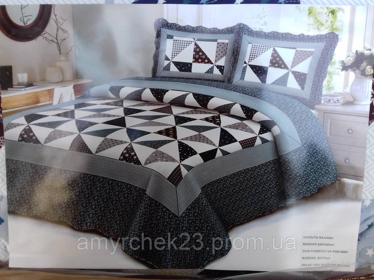 Покрывало на кровать с наволочками евро размер стеганое - купить по ... d3060644d5338