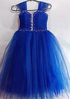 Платье нарядное с камнями 5-7 лет