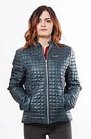 Женская весенняя бирюзовая куртка Саша 1-К 44-56 размеры