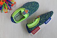 Салатовые кроссовки для девочки и мальчика без шнурков тм Том.м р. 28,31,32