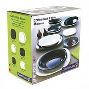 Сервиз столовый LUMINARC CARINE BLACK&WHITE, 18 предметов (N1479)