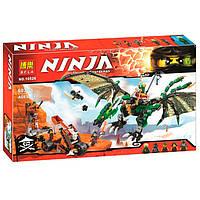 """Конструктор """"Ninjago"""" (10526) """"Зелёный энерджи дракон Ллойда"""" 603 дет, в коробке"""