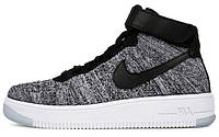 Мужские кроссовки Nike Air Force 1 Ultra Flyknit Oreo Grey