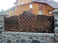 Кованый забор с узором
