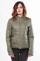 Женская весенняя куртка Саша 1-К хаки 44-68 размеры