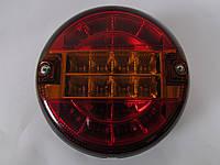 Фонарь задний универсальный круглый ISS 10401-K (красный с желтым)