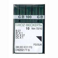 Иглы для промышленных оверлоков B27/81x1/DCx27/DCx1 70 FG/SUK Groz-Beckert