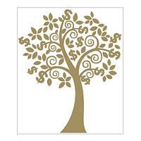 Денежное дерево наклейка( золото)